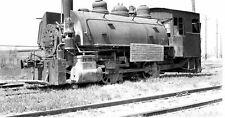 6Gg013 Negative/Print 1955 Consumers Co Railroad Loco #7 Maywood Il
