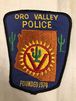 Vintage Oro Valley Arizona Police Patch