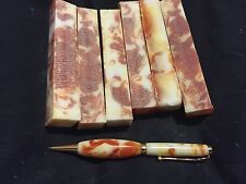 orange swirl pearl pen blank