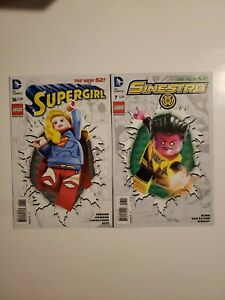 Supergirl #36 And Sinestro #7 (9.2, NM-) Lego Variant Edition * 2 Book Lot *