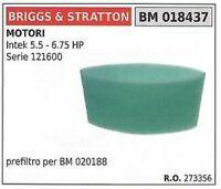 Original Briggs/&Stratton Vorfilter 273356 273356S 004201,4201Intek 5.5-6.75 HP