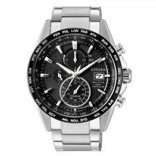 Citizen Herrenuhr Titan Uhr Eco-Drive Funkuhr Chrono Saphirglas AT8154-82E