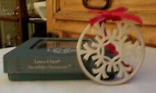 "Lenox 1998 ""Silver Frost"" Pierced Ornament Only Snowflake (Reduced Price)"