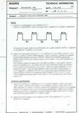 1 x Nagra QRT Transmitter / Technical Information with Schematic _ ENG _ FR _ DE
