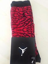 NIKE AIR MICHAEL JORDAN 9 SOCKS BLACK RED  FLIGHT JUMPMAN SIZE 42-46 UK8-11 LG