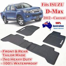 Waterproof Rubber Floor Mats Tailor Made for ISUZU D-MAX 2012 - 2018 Dual Cab