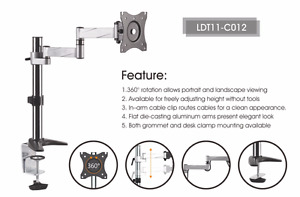 """#Clearance SALE #20% OFF Desk Mounts for LCD Screen Size 13""""-27"""" LDT11-C012"""