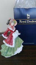 "Royal Doulton Wintertime Lovely Lady 8"" Tall Excellent HN3622 Seasons Series"