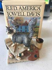 Lowell Davis Renoir Cat w/Paint Figurine Signed Schmid Scotland 1984