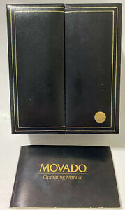 🌟 Vintage 1995 Authentic Movado Watch Box Case & Manual Only 🌟