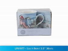 Beach Hut Mug & Coaster Coffee Tea Nautical Fine China Sandy Bay Design