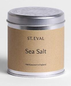 """St Eval """"SEA SALT """" Scented Candle in a Tin.TWO TINS"""