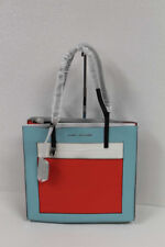 Marc Jacobs The ColorBlock Grind Leather Tote M0013662  Baby Blue Multi