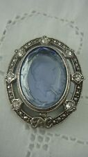 AVON PRESIDENTIAL RECOGNITION 1998-99 OVAL GLASS CAMEO PIN BROOCH (G-31)