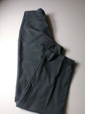 FLAWED Alan Flusser Mens Dress Pants Size 34x34 Gray Pinhead Pleated