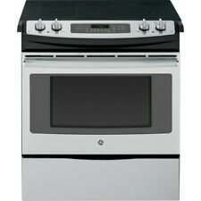 "Ge Js750Sfss 30"" Slide-in Electric Range Convection Oven Stainless Steel"