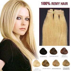 150 cm MATASSA TESSITURA REMY HAIR AAA EXTENSION capelli VERI 100% peso 100 gr