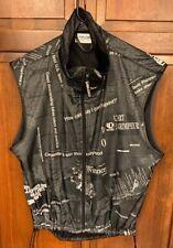 Pearl Izumi Full Zip Sleeveless Vest Biking Cycling Men M Newsprint Black