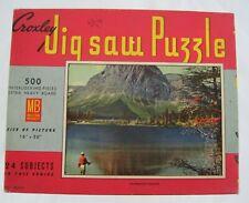 Vintage Milton Bradley Croxley Jigsaw Puzzle FISHERMAN'S PARADISE Setter 500 pcs