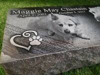 Headstone Grave Stone Marker Engraved Monument Black Granite 16x8x4 Cemetery 7