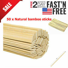 Natural Bamboo Sticks Wooden Craft Sticks 15.5