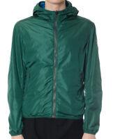 Giacca Uomo Colmar 1842 8PC K-way Reversibile Impermeabile Verde Blu Nuovo