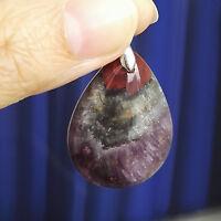Natural Canada Auralite 23 Gemstone Woman Water Drop Pendant 32x22x10mm AAAA