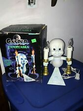 1996 Casper the Friendly Ghost Halloween Candelabra Lighted Figurine in BOX