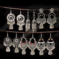 Fashion Bollywood Bohemian Silver Gold  jhumka Handmade Earrings Indian Jewelry