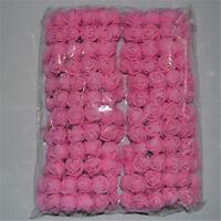 Roses en mousse tulle rose artificielle.décoration mariage baptême 144pcs
