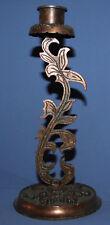 Vintage ornate metal floral candlestick