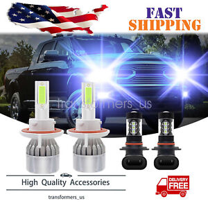 For Dodge Ram 1500 2500 2006-2008 -Combo LED Headlight Hi/Lo + Fog Light Bulbs