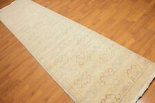 3' x 12' Hand Knotted Traditional Oriental Area Rug 100% Wool Runner 3x12 Gray