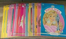 LOT OF 15BARBIE PAPER DOLL DOLLS BOOKS UNUSED GOLDEN MATTEL 1986-1993