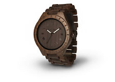Laimer Holz Armbanduhr Herren Uhr Black Edition 0018 aus Sandelholz Holzarmband