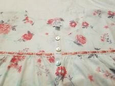 Aria womens sweetheart long sleeve nightgown plus size 1X white w roses print