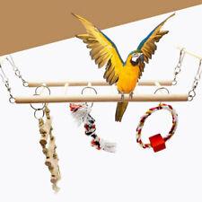 Birds Toy Wooden Ladders Swing Scratcher Climbing 5Ladder Parrot Pet Supplies_JO