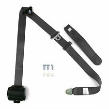 3pt Charcoal Retractable Seat Belt Standard Buckle - Each