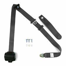 3pt Charcoal Retractable Seat Belt Standard Buckle - Each