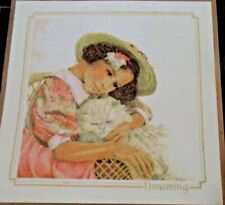 Lanarte Life Style Collection Dreaming Cross Stitch Kit Linen Fabric #33783