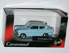 Cararama-Ford Anglia Mki (glacia Azul / Blanco) Modelo Escala 1:43