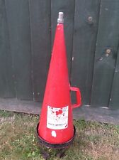 Vintage Large Read And Campbell Red Cone Conical Fire Extinguisher