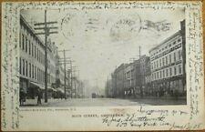 Amsterdam, NY 1908 Postcard: Main Street / Trolley / Downtown - New York
