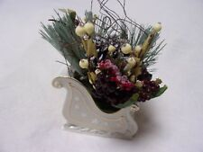 Lenox Gold Club Sleigh Centerpiece Fine Ivory China 2005