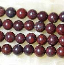AAA+ Natural 10 mm Bloodstone Round Loose Beads 15''