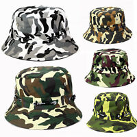 Men Army Camo Military Bucket Wide Brim Boonie Cap Fishing Hunting Beach Sun Hat