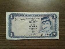 Banknote Brunei 1 Ringgit 1 Dollar 1983 gebraucht aus Sammlung