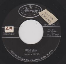 THE PLATTERS {50's Pop R&B} Helpless / Indiff'r'ent ♫HEAR