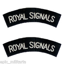 Royal Signals - WW2 Repro Shoulder Titles Patch Badge Sleeve Flash Arm Army New