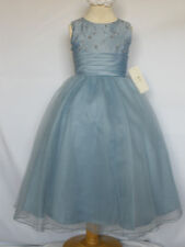 New Little Kid Girl Easter Party Pageant Wedding Formal Dress Perry Blue size 4